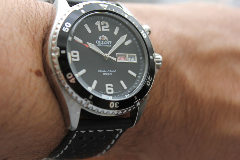 Name:  Orient Black Mako on rally strap from Panatime8.jpg