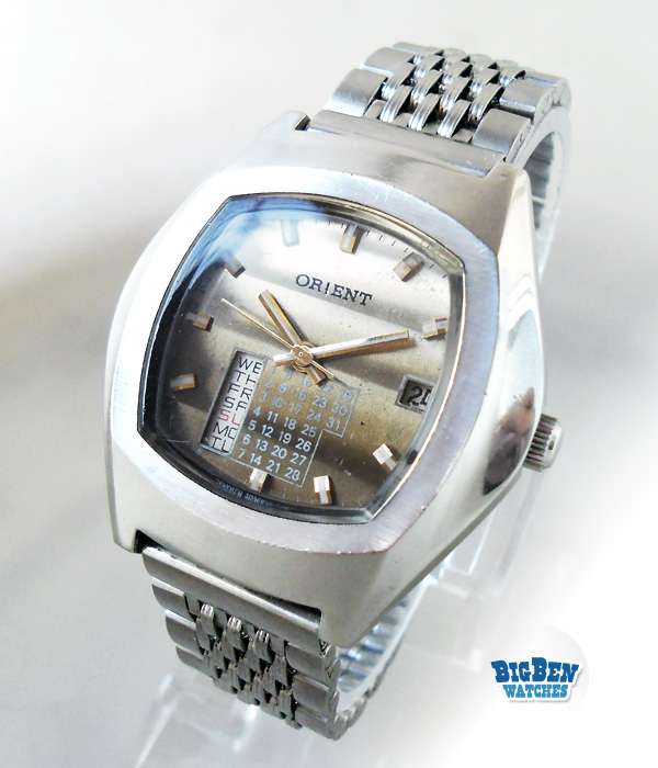 187 vintage orient perpetual calendar automatic watch with gradient dial for Gradient dial watch