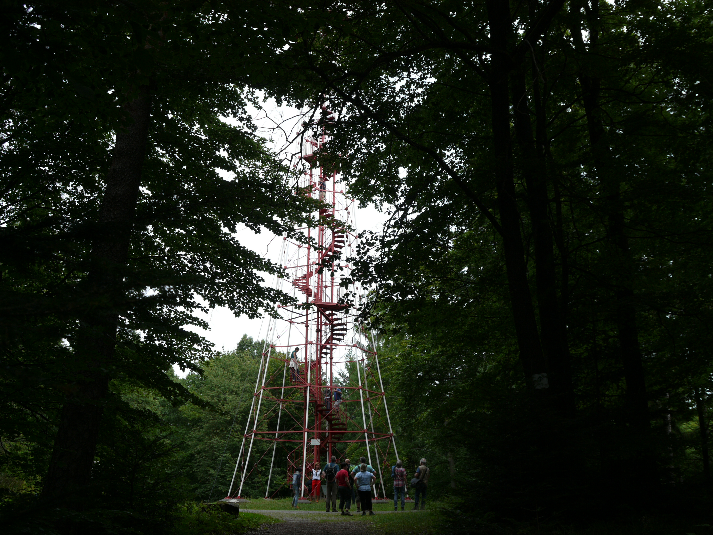 Hi-tech hike to a tall watchtower