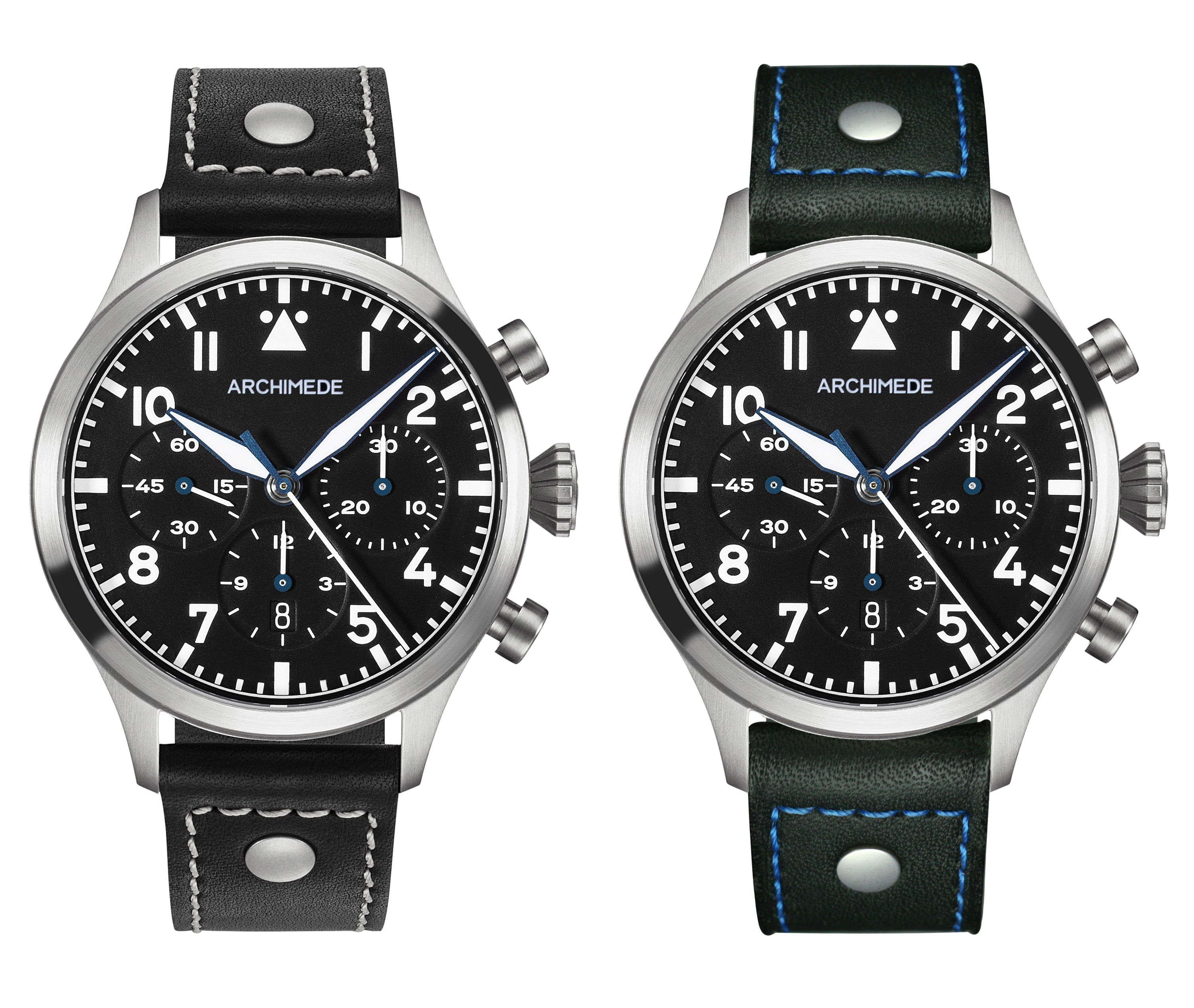 Archimede TriCompax Flieger Chronograph