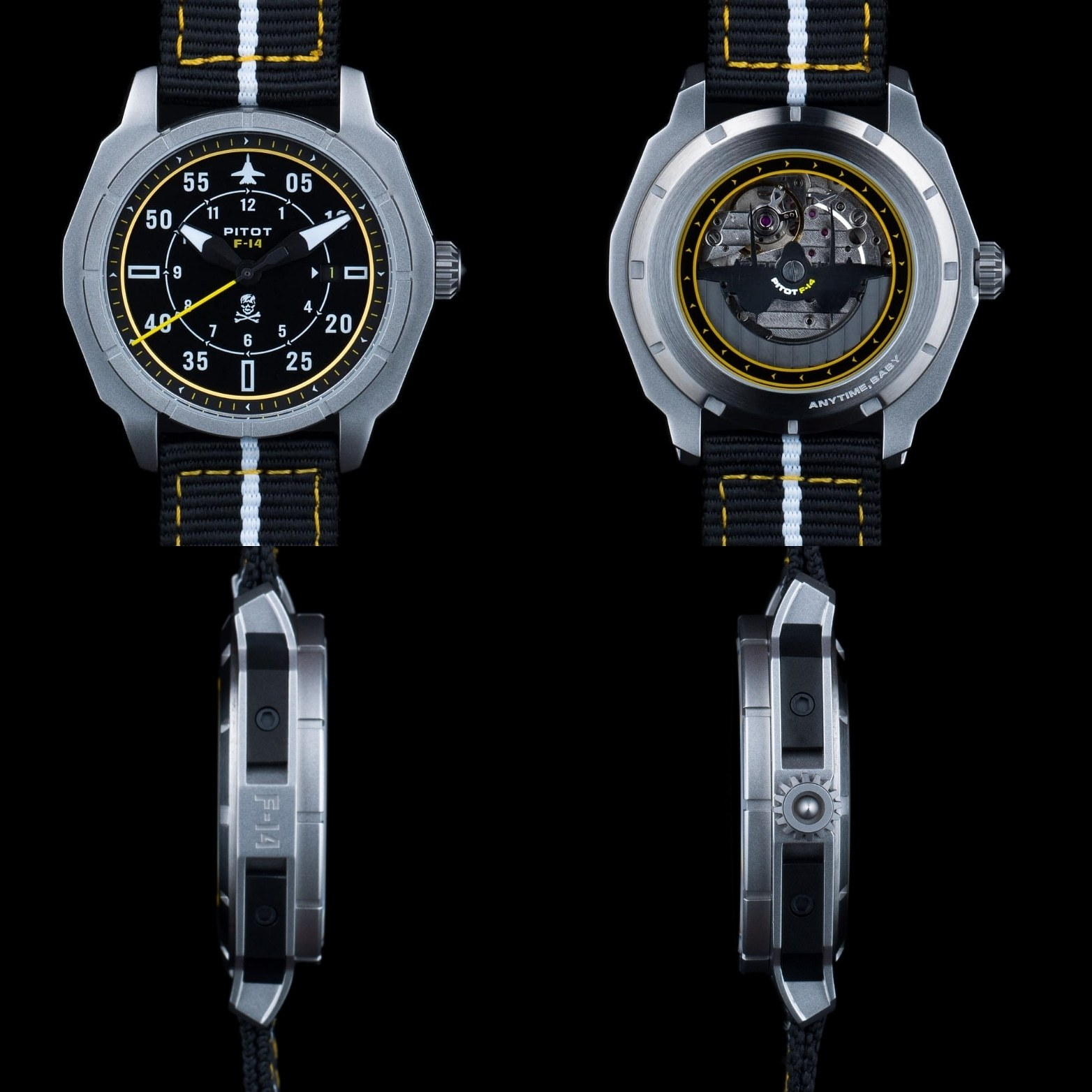 For F-14 fans, clever, aviation-inspired touches abound in the Pitot F-14 collection.