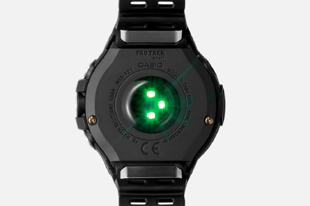 Pro Trek Smart WSD-F21HR with Heart Rate Monitor caseback