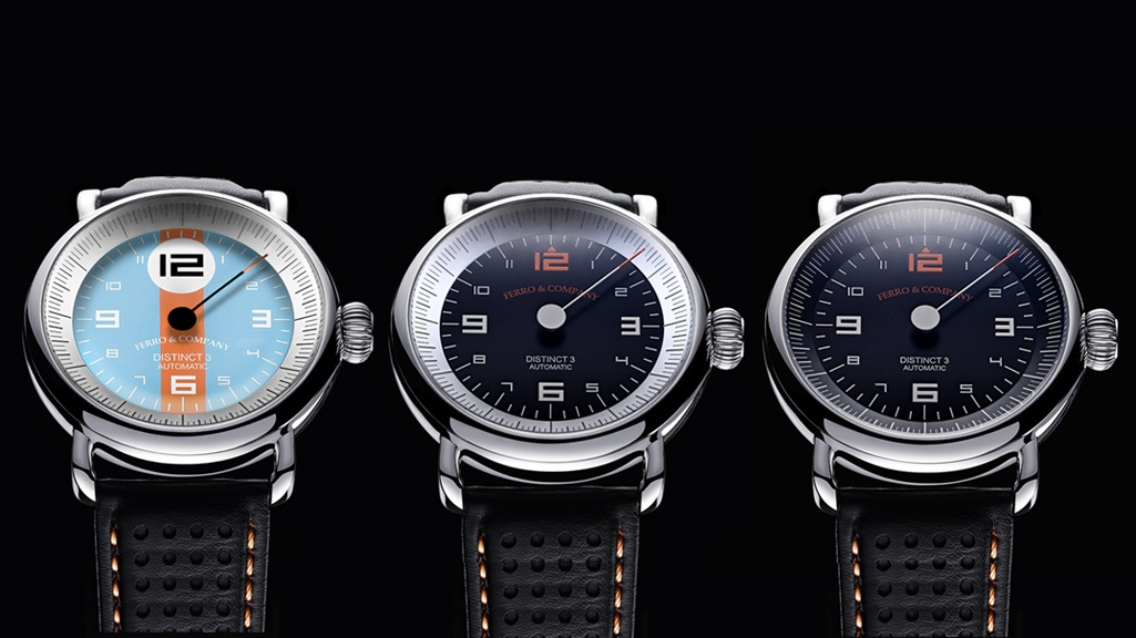 The Distinct 3 comes in three distinct, vintage racing inspired styles: the GulfSeries, GrandPrixSeries, and PetrolSeries.