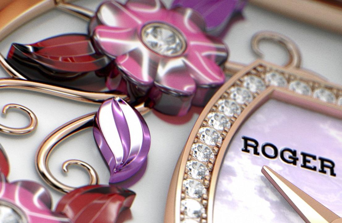 Roger-Dubuis-Blossom-Velvet-Pink-Detail