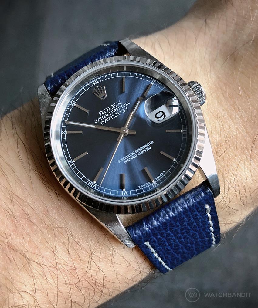 Name:  Rolex Datejust Textured Calfskin Watchbandit Klein.jpg Views: 18 Size:  369.4 KB