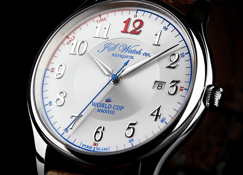 Icelandic watchmaker J.S. Watch Co. has created The World Cup MMXVIII Limited Edition, in special celebration and cooperation with team members of the Icelandic men's national football team who qualified for the FIFA World Cup championship for the first time.