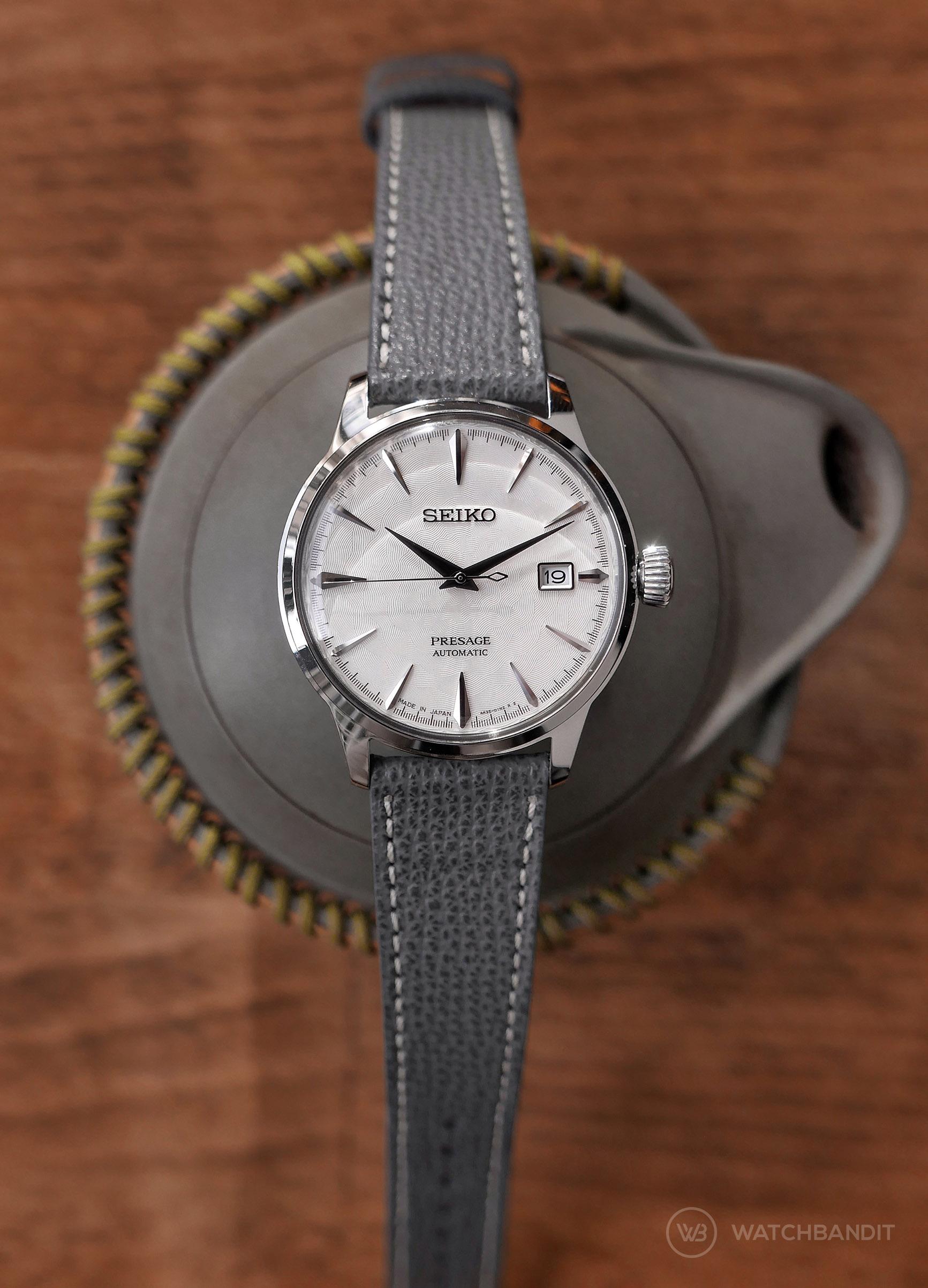 Name:  Seiko Presage grey textured calfskin leather strap Watchbandit.jpg Views: 18 Size:  501.2 KB