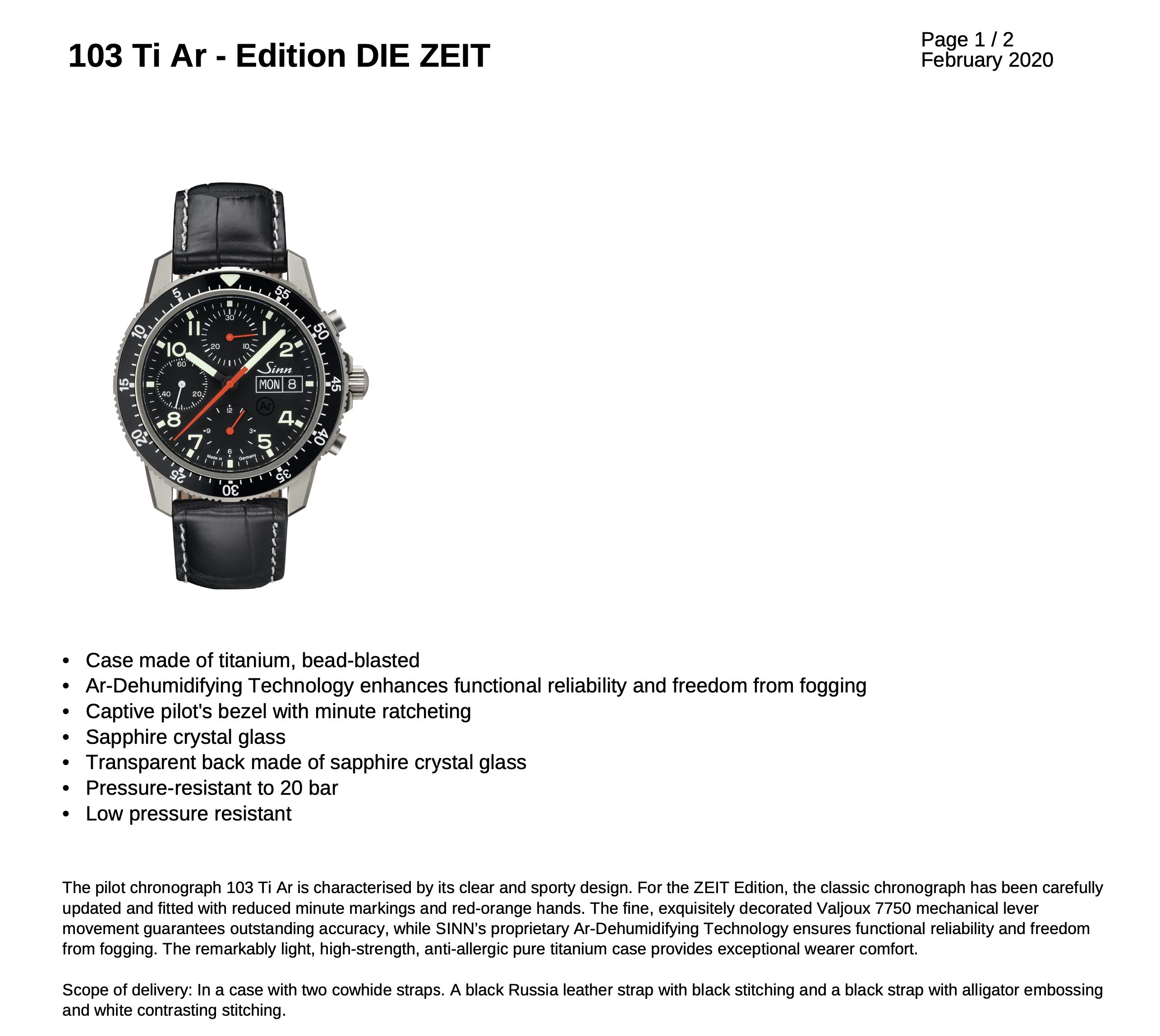Name:  SINN 103 Ti Ar - Ltd Edition DIE ZEIT .jpg Views: 123 Size:  1.14 MB
