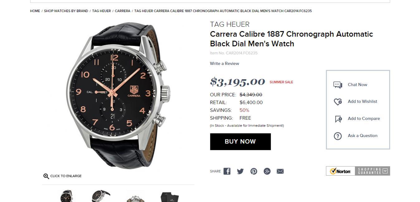 Name:  Tag Heuer Carrera Calibre 1887 Chronograph Automatic Black Dial Men s Watch CAR2014.FC6235   Car.jpg Views: 1307 Size:  71.6 KB