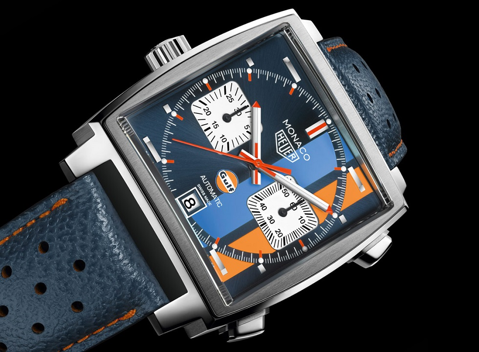 the steve mcqueen version tag heuer monaco gulf special edition. Black Bedroom Furniture Sets. Home Design Ideas