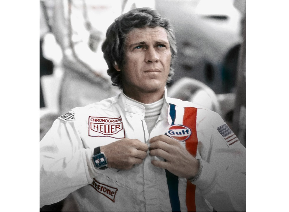 the steve mcqueen version tag heuer monaco gulf special. Black Bedroom Furniture Sets. Home Design Ideas