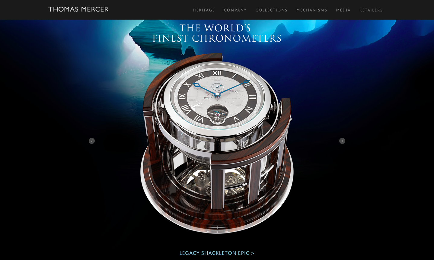Thomas Mercer Chronometers Launches Illustrious New Website Worthy of its History