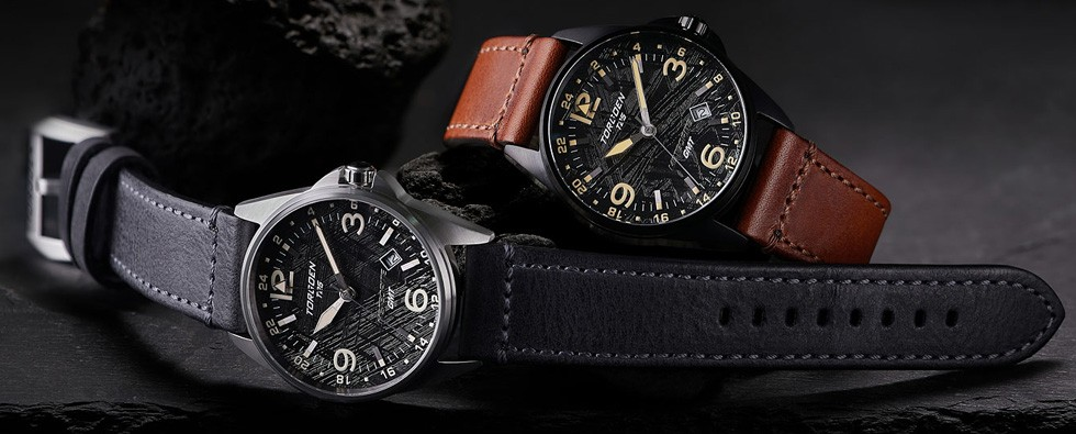 Torgoen Watches T25 Meteorite collection is out of this world – quite literally – thanks to a dial that features slices of the Muonionalusta meteorite.
