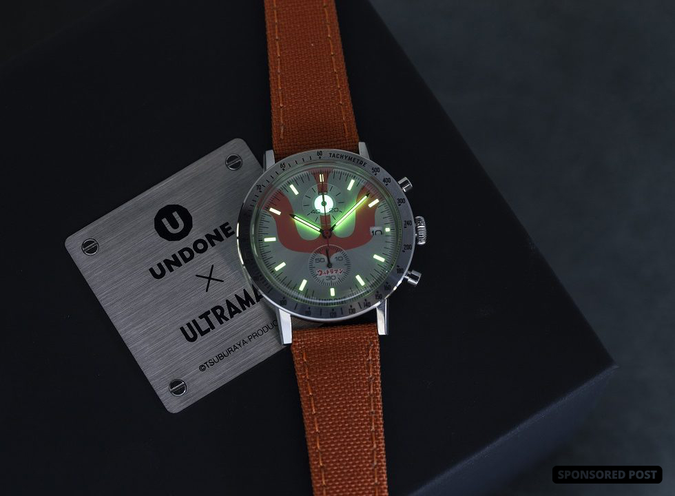 UNDONE, the Hong Kong watch company famed for their endlessly creative online customizations, is launching the Ultraman 'Color Timer' Watch, a chronograph to tie in with a new Japanese anime series reboot to be screened on Netflix starting in April, 2019.