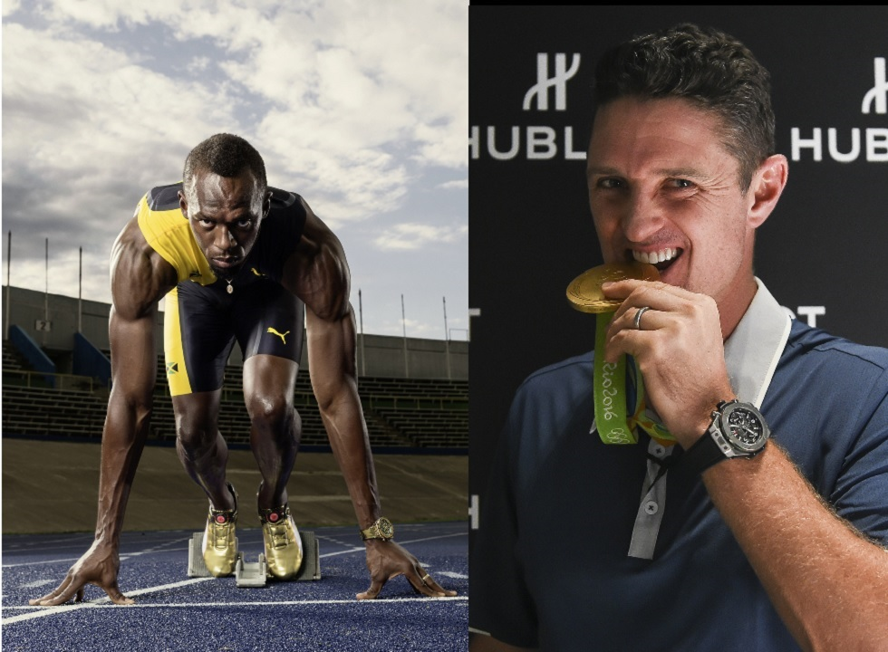 Usain Bolt and Justin Rose