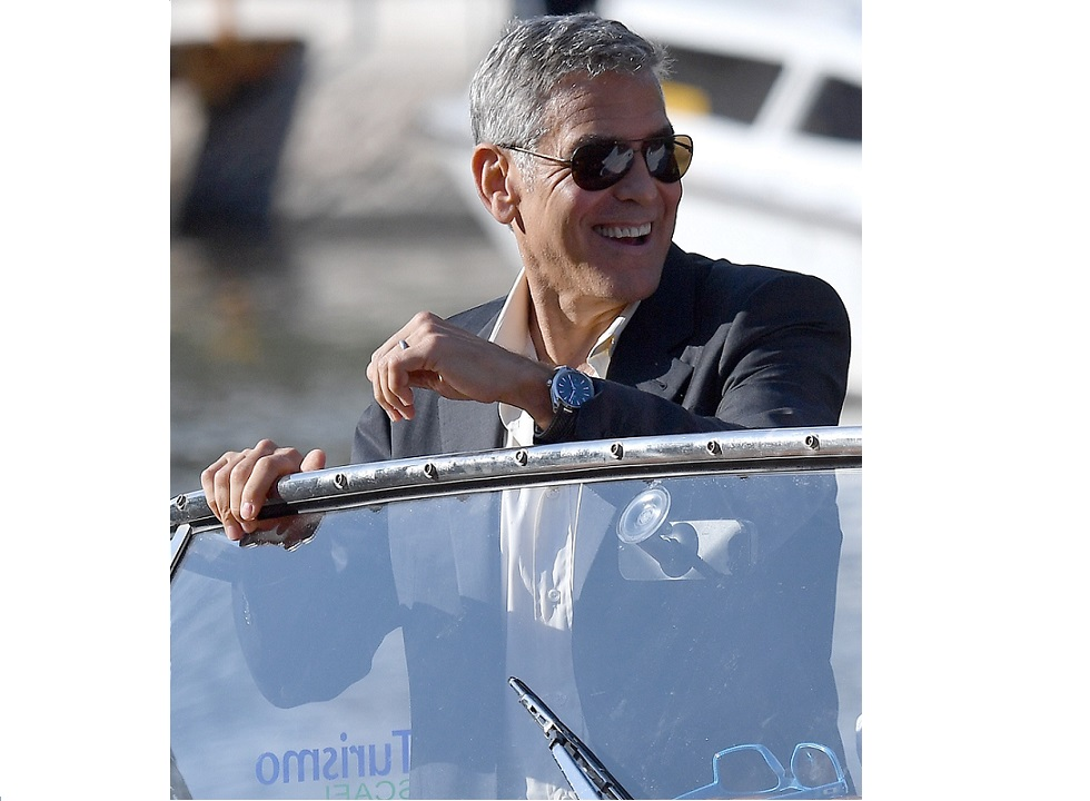 Clooney Kicks Off 74th Venice Film Festival Wearing Omega Seamaster Aqua Terra