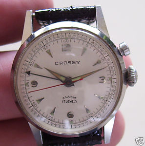 Name:  Vintage 1950's Crosby Wrist Alarm 17j All SS Watch 1. + .95.JPG