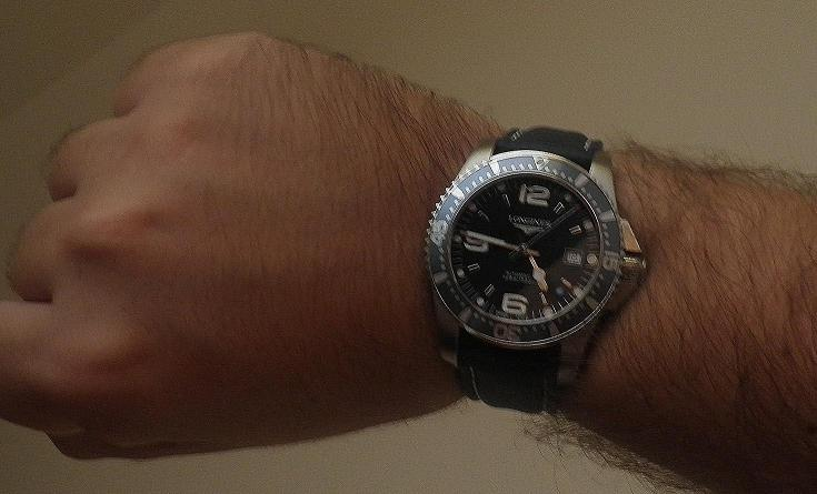 Longines Hydroconquest 41mm Auto Blue Dial Bezel On
