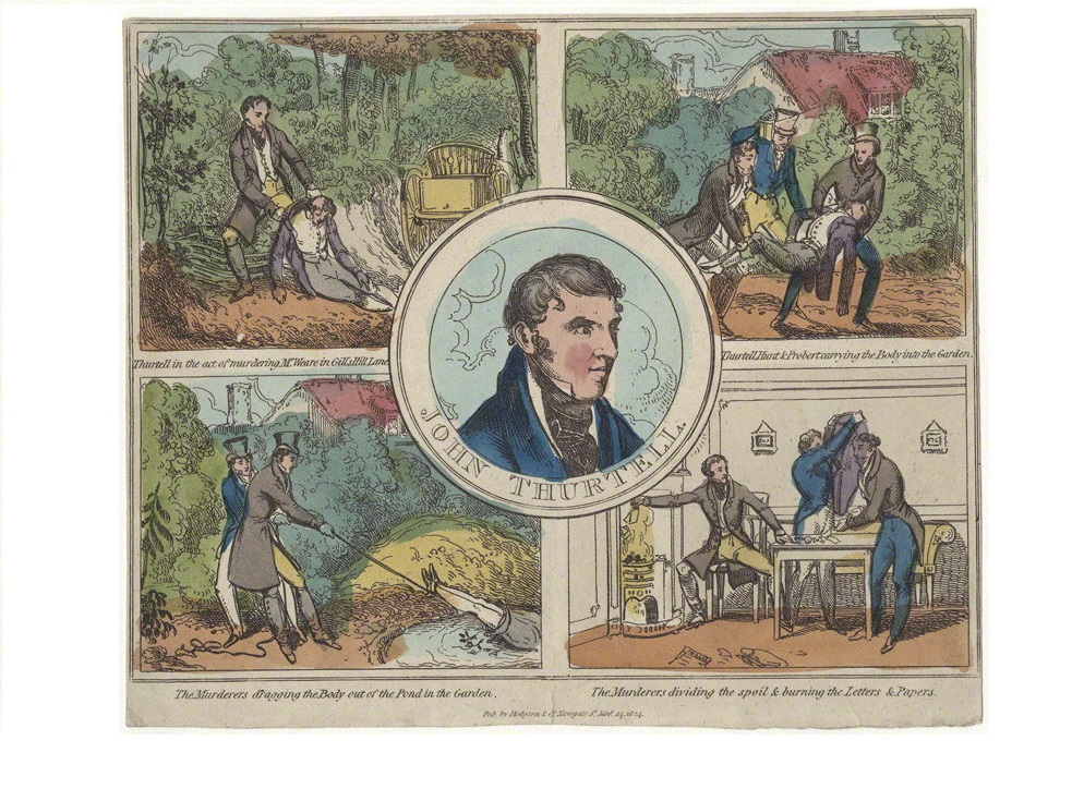 published by Hodgson & Co, hand-coloured etching, published 14 January 1824