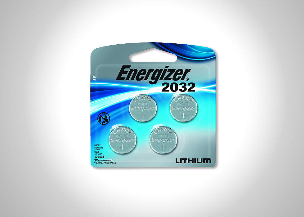 Energizer 2032 battery four pack