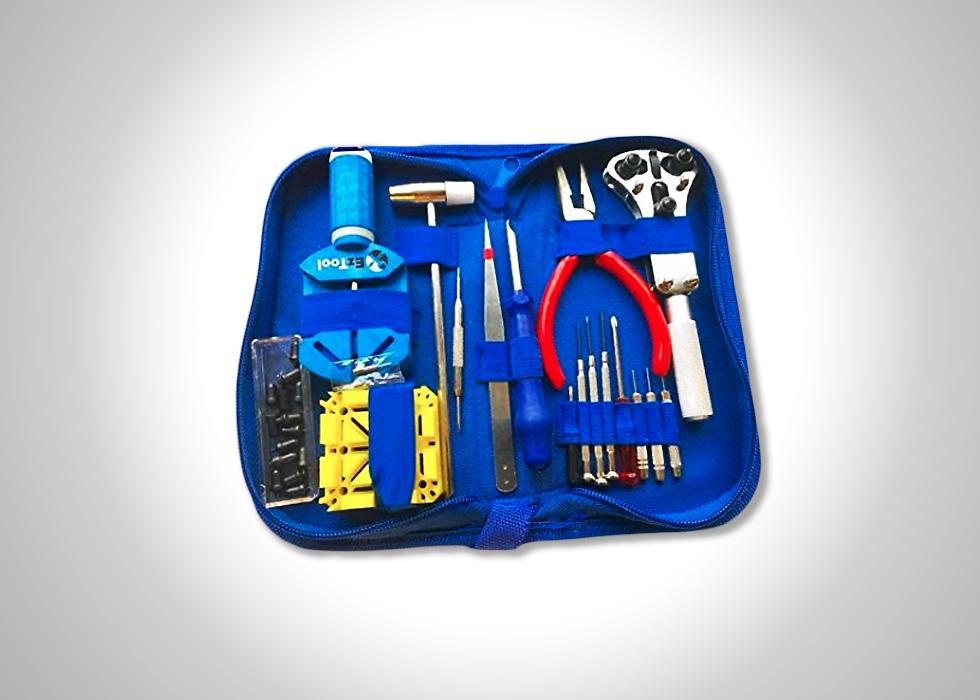 EzTool watch repair toolkit and manual