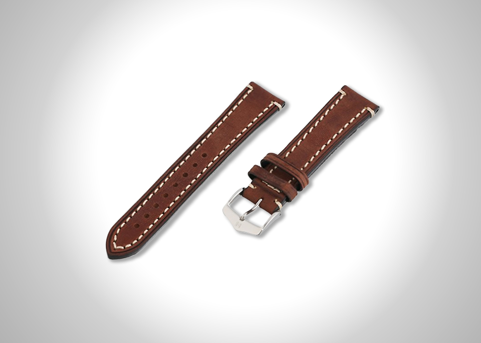 Hirsch Liberty 20-mm leather watch strap in brown