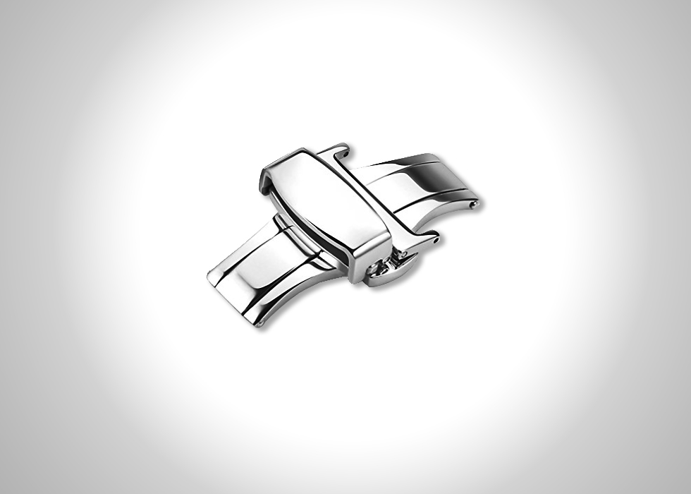 iStrap stainless steel butterfly deployant double push spring clasp