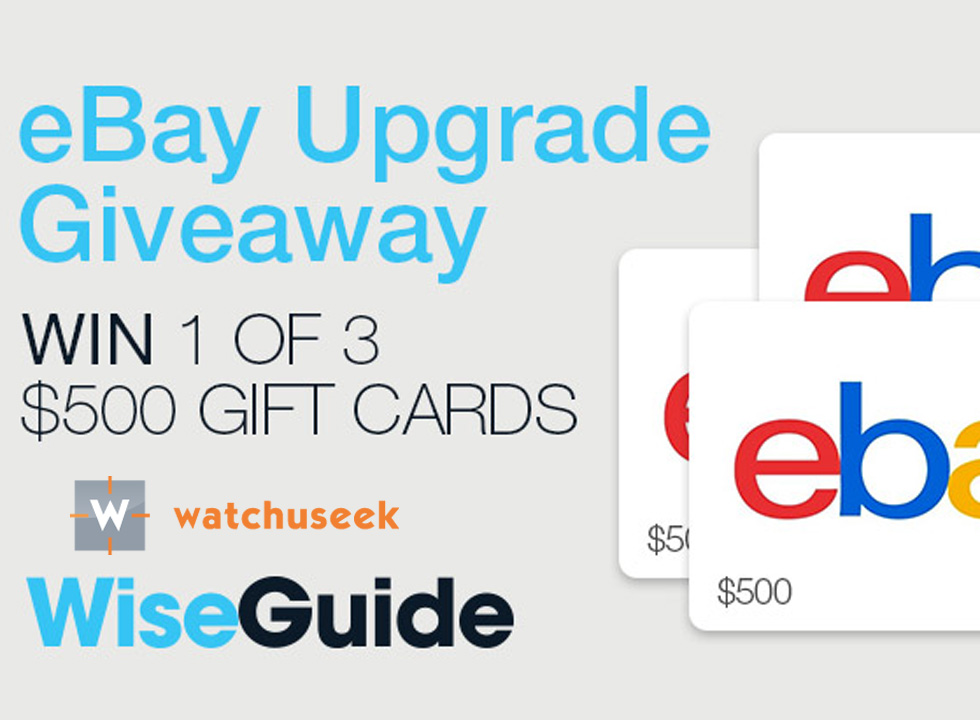 Win One of Three $500 eBay Gift Cards