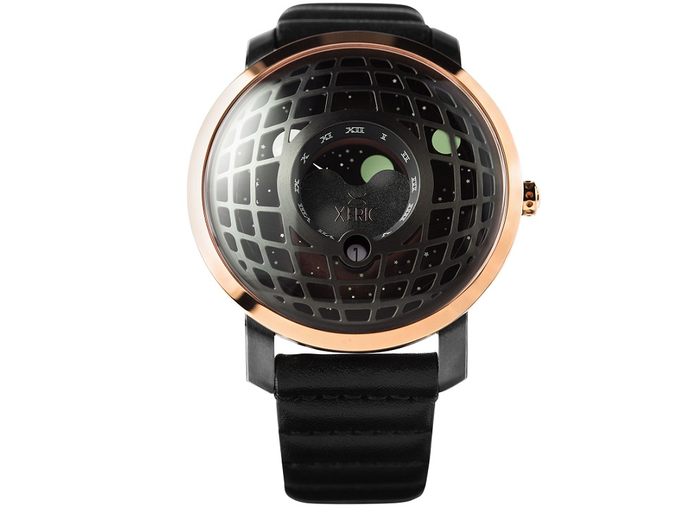 Xeric watches trappist 1 moonphase blasts off on kickstarter for Watches xeric