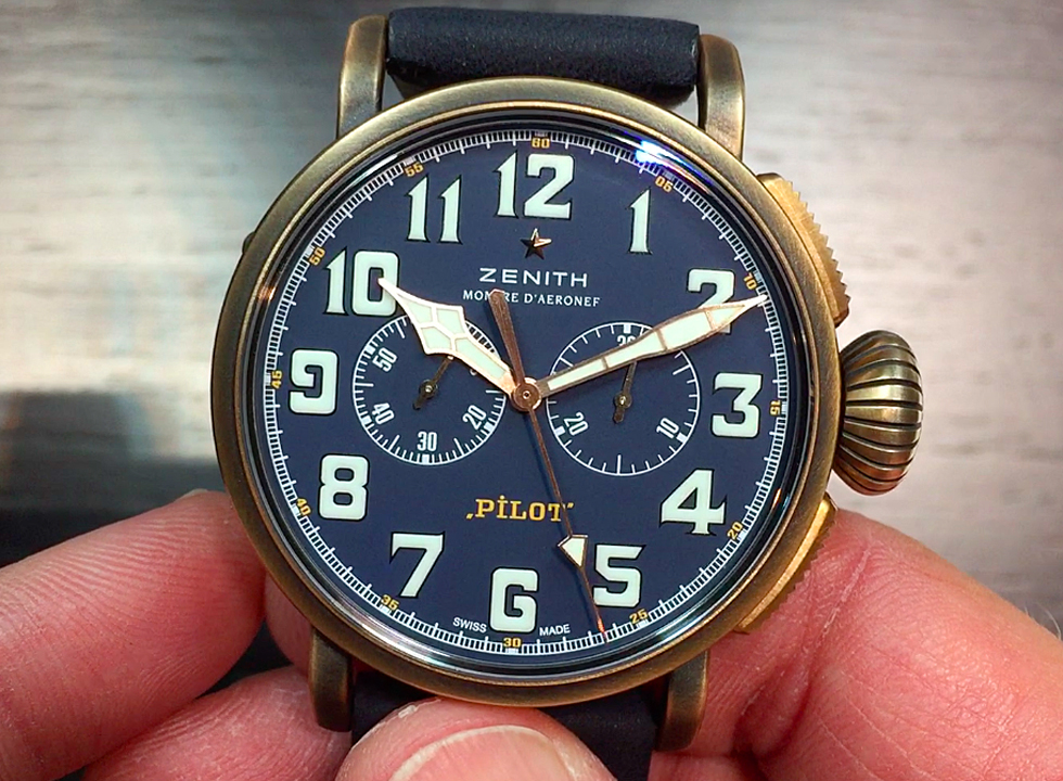 Here's a hands on look at the Zenith PILOT Type 20 Chronograph Extra Special, which features the Zenith El Primero movement in a bronze case with a beautiful matte blue dial.