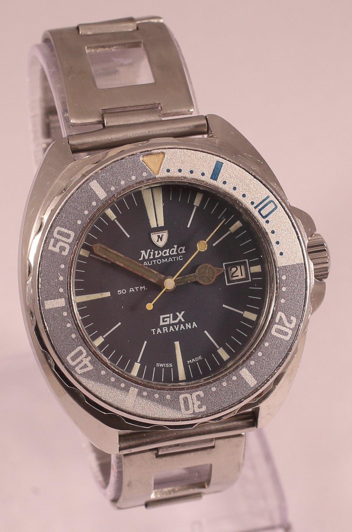 Rare Nivada Glx Taravana 50atm Automatic Diver S Watch On Clewco Rally Bracelet Watchuseek Watch Forums